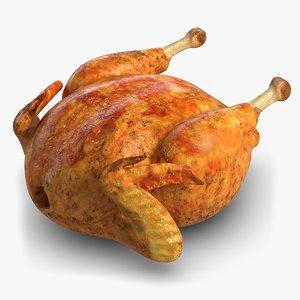 roasted chicken 3d model