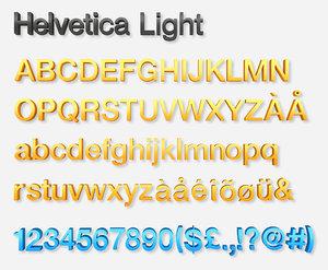 alphabet letters - helvetica model