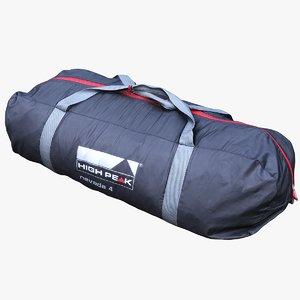 3D tent bag model