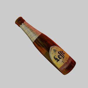 3D beer bottle leffe