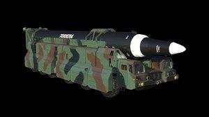 3D model 12 missile