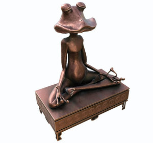 3D model meditating frog