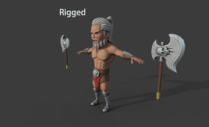 3D character pbr rigged