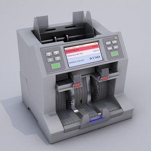 3D model currency counting machine