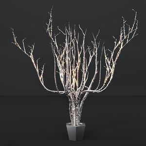 3D outdoor lighting installation trees