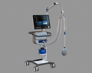 ventilation hamilton oxygen 3D model