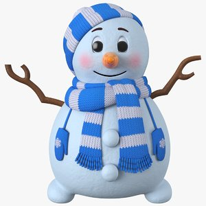 snowman snow cartoon model