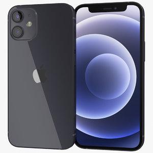 3D realistic apple iphone 12 model