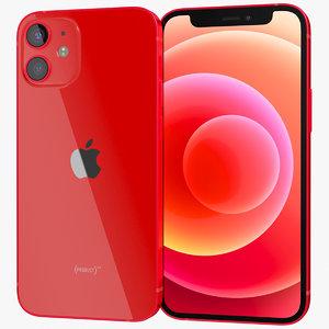 3D realistic apple iphone 12
