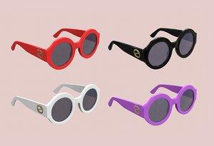 3D sunglasses glass gucci model