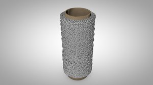 crocheted sewing 3D model