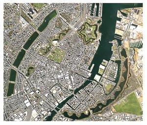 cityscape copenhagen denmark city 3D model
