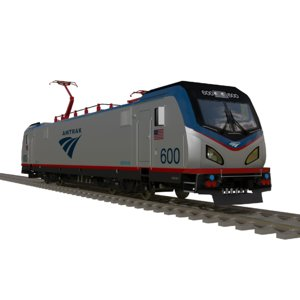 3D amtrak engine