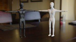 human blender sculpting 3D model