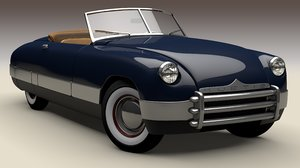 convertible kurtis 1949 3D model