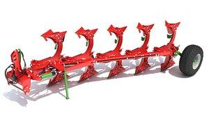 3D semi mounted plough