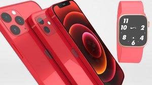 3D iphone 12 set apple model