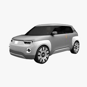 fiat 120 concept car 3D