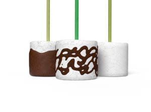3D marshmallow sweet food