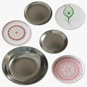 3D plates decorative ceramic