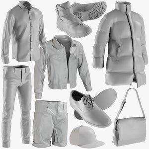 3D mesh clothing mix 6 model