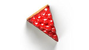 cake strawberries 3D