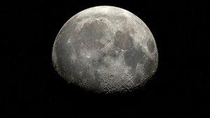 3D model aaa vfx moon -