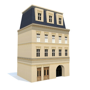 3D old apartment model