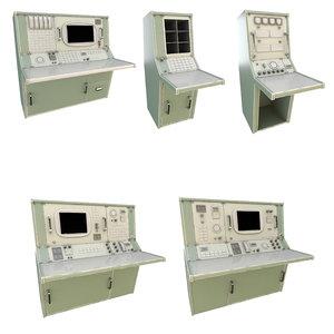 3D nasa control tables pbr model