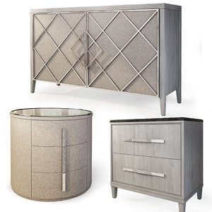 sideboard nightstand carson 3D model