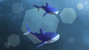 stylized whale shark model