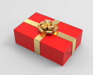gift boxes 3 color 3D model
