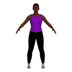 3D woman yoga character