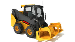 3D skid steer loader log