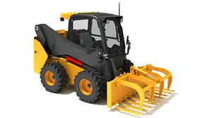 skid steer loader manure 3D model