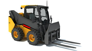 3D skid steer loader pallet model