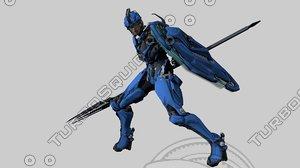 3D special ninja robot character
