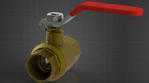 3D ball valve model