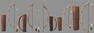 3D bow arrow