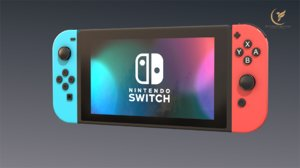 low-poly nintendo switch 3D