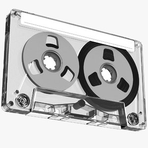 transparent cassette tape model