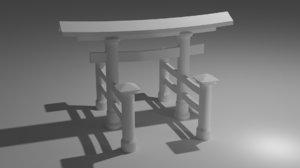 torii gates 3D