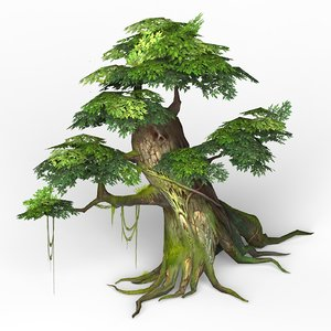 ready fantasy tree games 3D model