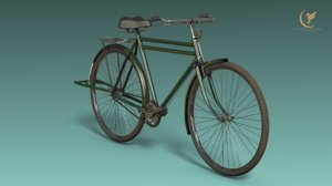 3D low-poly philips bicycle model
