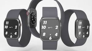 apple watch 6 black 3D model