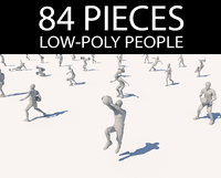 lowpoly people in motion pack