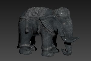 elephant printing decor model