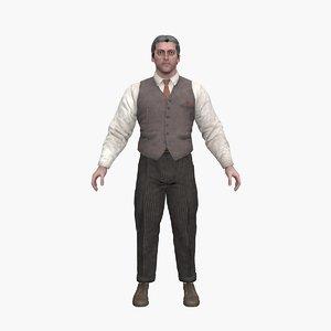 scientist ben 3D model