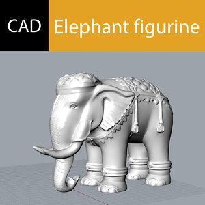 elephant printing decor model