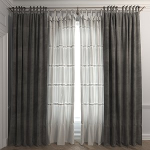 3D curtain set 9 model